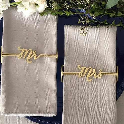 Mr. & Mrs. Napkin Wrap Set