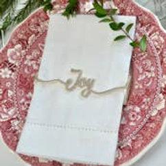 JOY Napkin Wrap Shiny Silver