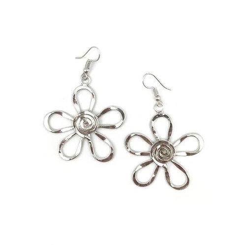Handmade Silver Daisy Earrings