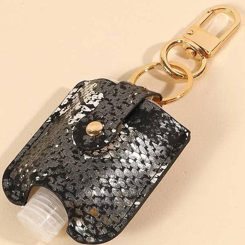 Black Mini Hand Sanitizer Keychain/Holder
