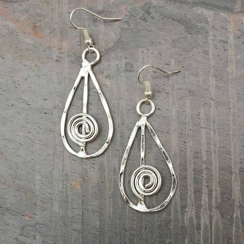 Handmade Silver Teardrop Earrings