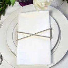 X Shiny Silver Napkin Wrap