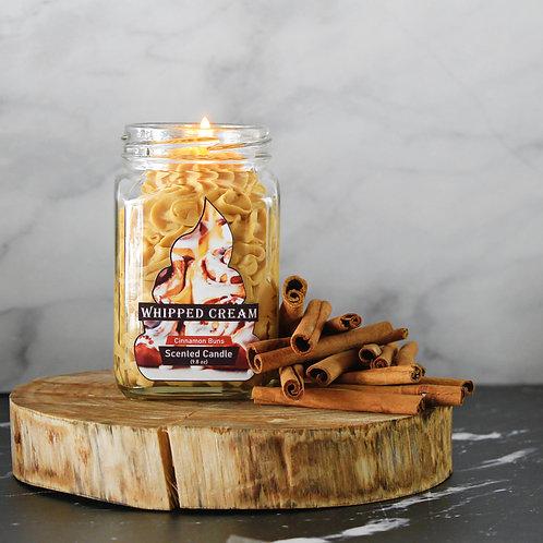 Bella Cinnamon Bun Whipped Cream Candle