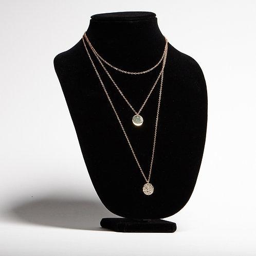 Triple Gold Necklace