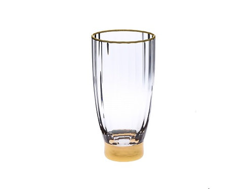 Straight Line Textured Water Tumblers - Set of Six