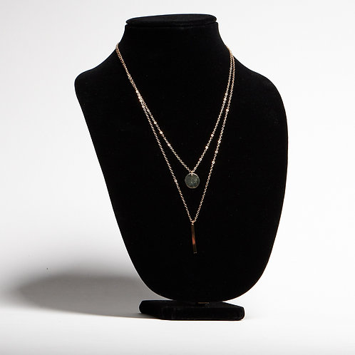 Double Layered Gold Necklace