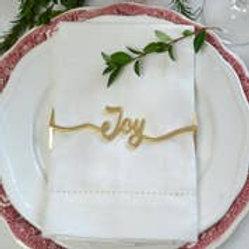 JOY Napkin Wrap Matte Gold