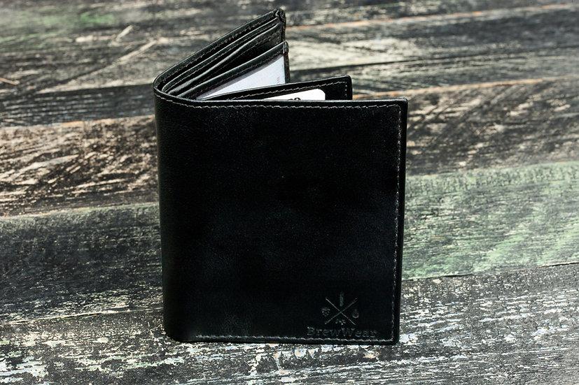 """BrewWear """"regular"""" leather wallet, Black"""
