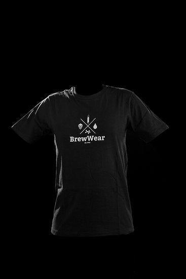 T-shirt men, round neck, Black