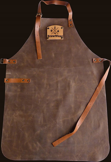 Leather brewers apron, Barrel Aged Brown