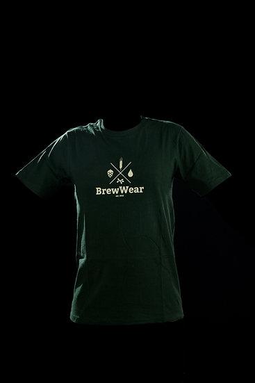 T-shirt men, round neck, Hoppy Dark Green