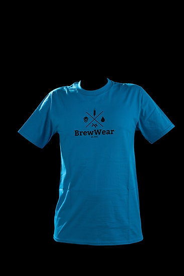 T-shirt men, round neck, Clear Watery Blue