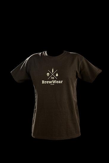 T-shirt men, round neck, Chocolate Malty Brown