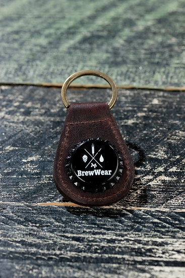 Magic bottlecap keychain, Brown