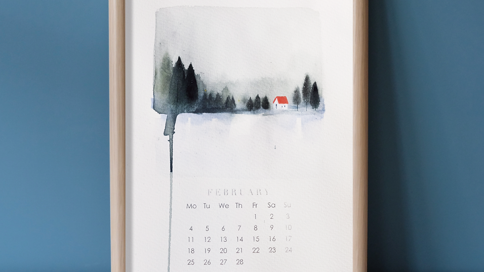 【SWEET CORE illustration】北歐森林手繪月曆水彩課程