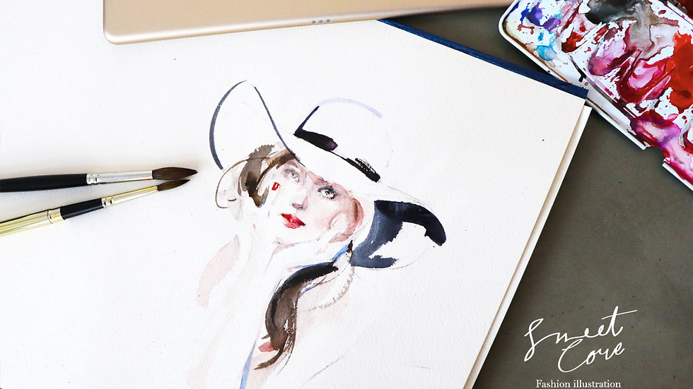 SweetCoreillustration-訂製水彩肖像畫{單人}
