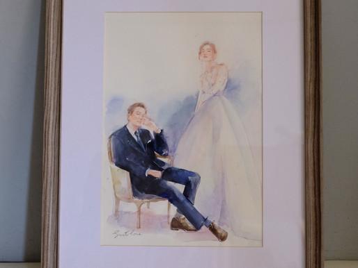 有自己調調的幸福-君君呈樺's 婚禮肖像畫