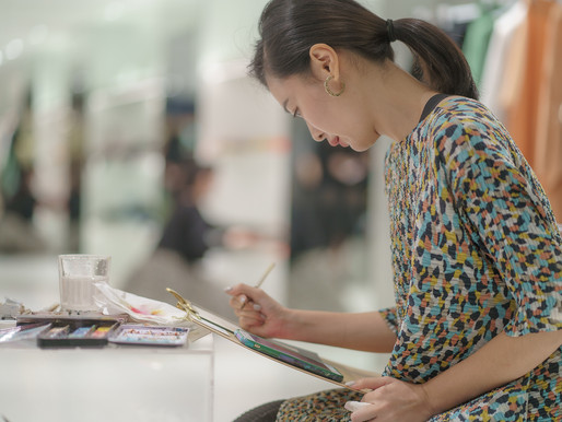 【現場肖像畫繪製活動-台灣君梵】將心意獻給重視的人