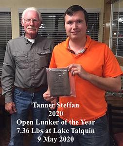 20210106 Tanner Steffan Lunker Award.JPG