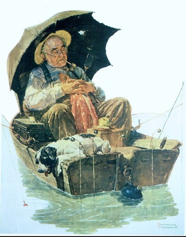 Norman Rockwell Old man fishing.png