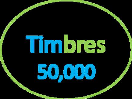 Paquete de  50,000 Timbres