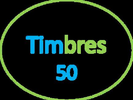 PAQUETE DE 50 TIMBRES