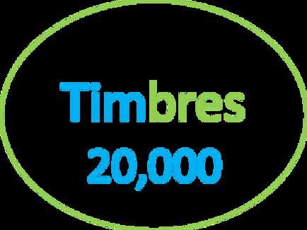 Paquete de 20,000 Timbres
