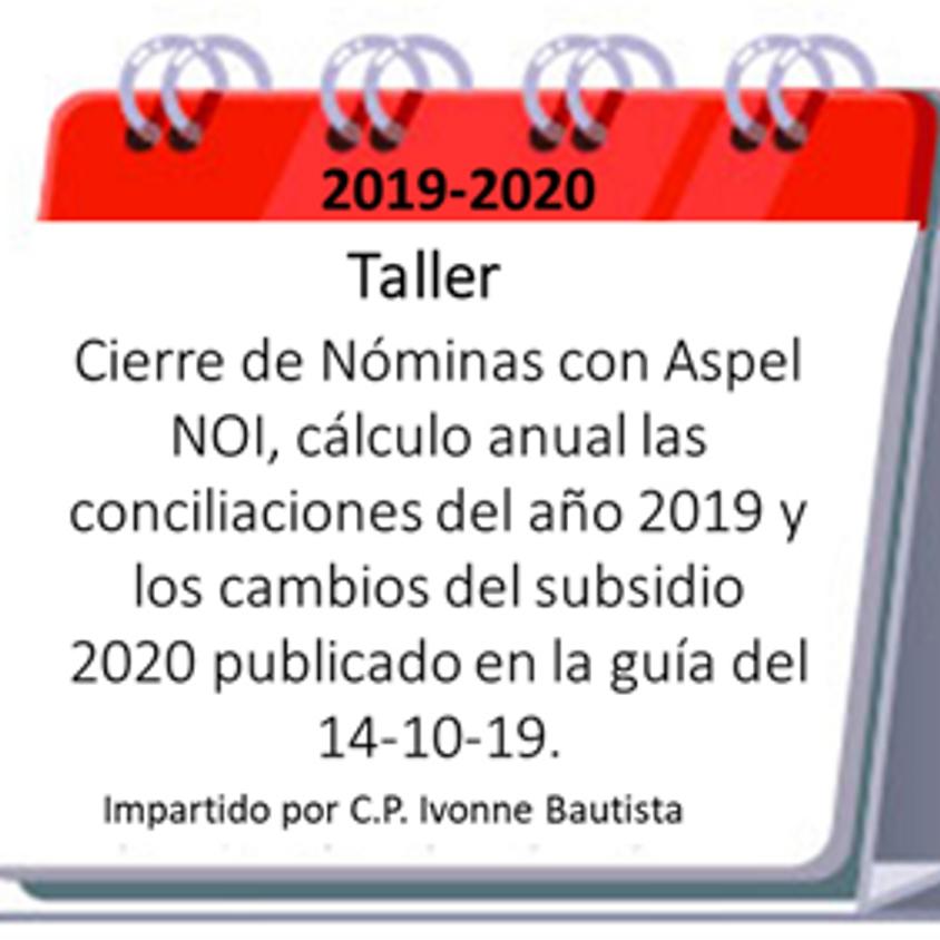 """Taller """"Cierre de Nominas con ASpel NOI"""""""