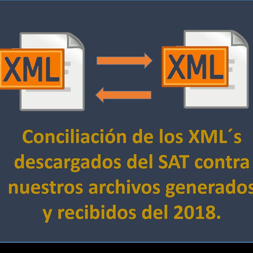 Conciliación de los XML´S descargados del SAT contra genarados y recibidos del 2018