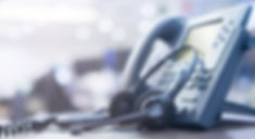 close up soft focus on telephone devices