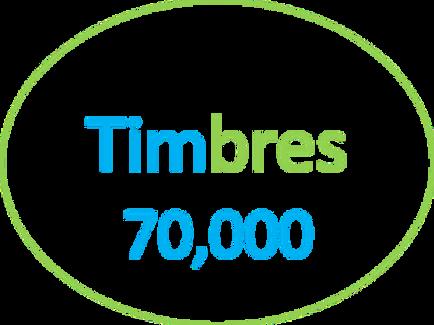Paquete de 70,000 Timbres