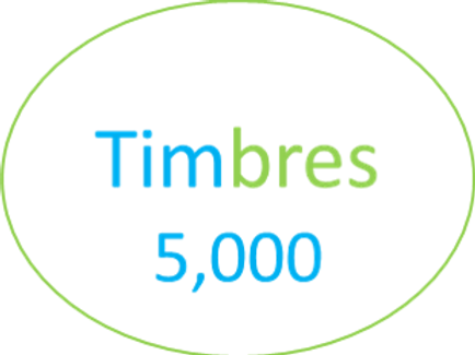 Paquete de  5,000 Timbres