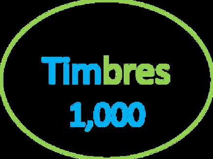 Paquete de  1,000 Timbres