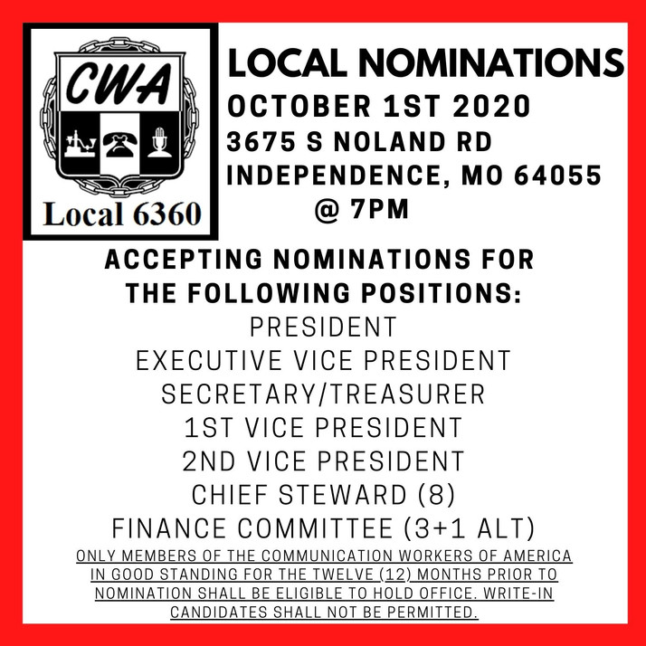 Nominations For Local Officers