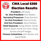 CWA Local 6360 Election Results