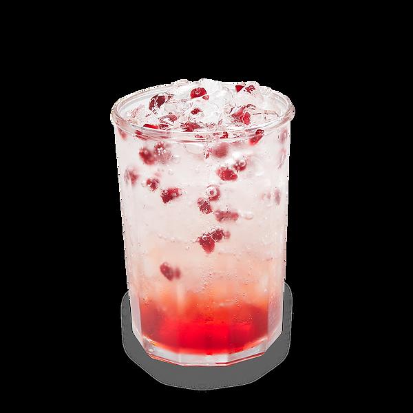Pomegranate sparkling layered