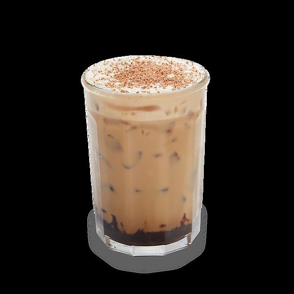 Chocolate iced coffee latte