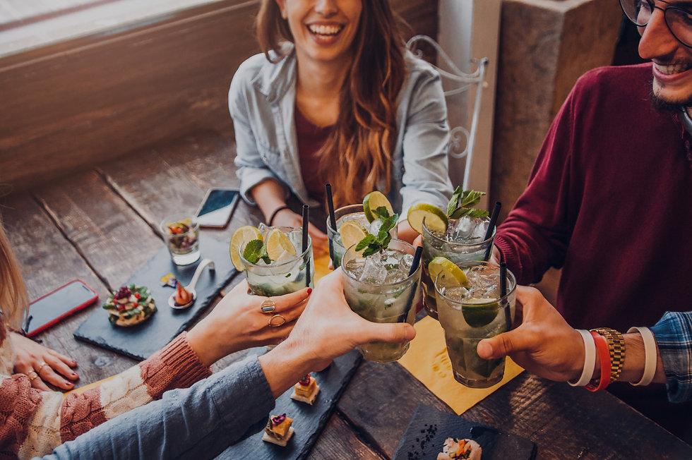 group cheers beverages