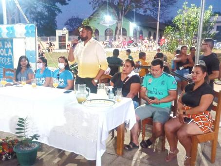 Semed realiza ação na praça para evitar evasão escolar