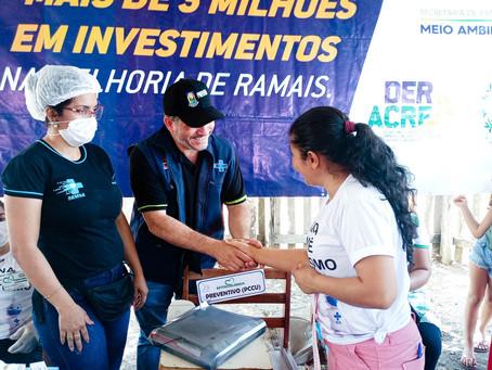 Prefeitura leva serviços de saúde para a comunidade do Laranjeiras
