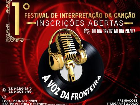 """Prefeitura abre inscrições para o Festival de interpretação da Canção """"A voz da Fronteira"""""""