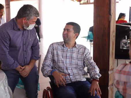 Prefeito Sérgio Lopes participa de almoço com novo Governador de Pando e deseja sorte ao novo gestor
