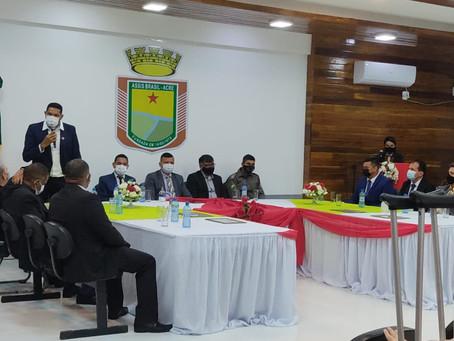 Professor Antônio Soares participa de Sessão solene em homenagem aos 45 anos de Assis Brasil