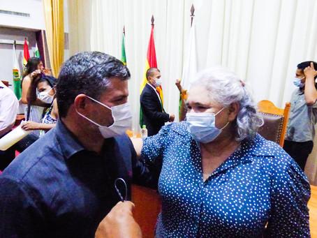 Sérgio Lopes prestigia Posse da nova prefeita de Cobija