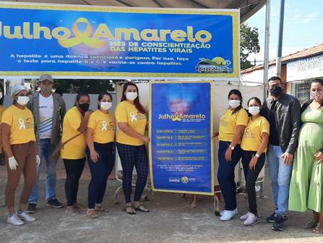Secretaria de Saúde realização ação do Julho Amarelo em Epitaciolândia