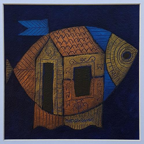 peixe com bandeira 20x20