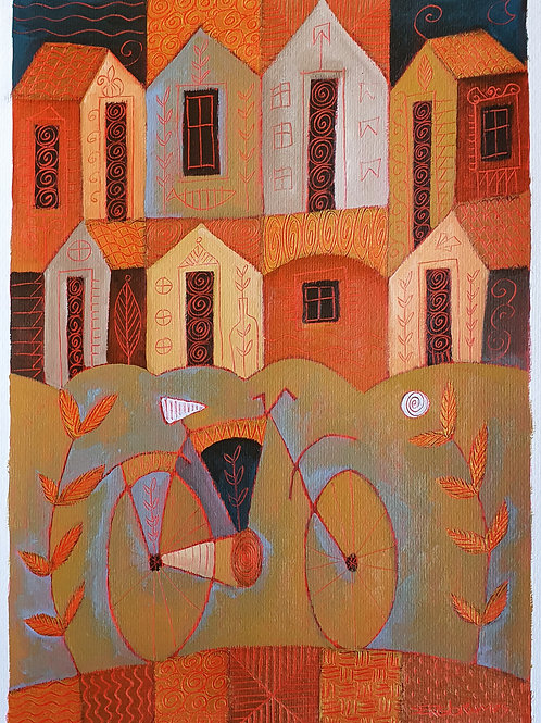 a vila e a bicicleta 42x30
