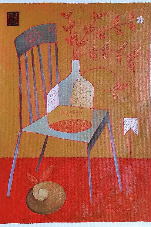 diálogo: vaso e cadeira 42x30