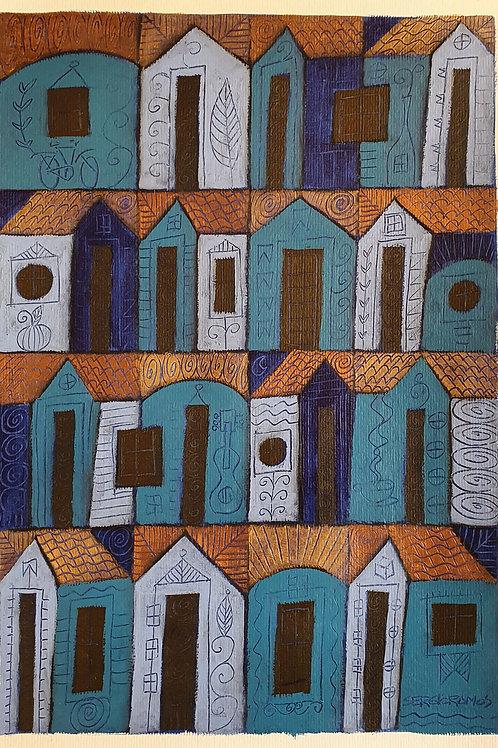 casas azuis 42x30