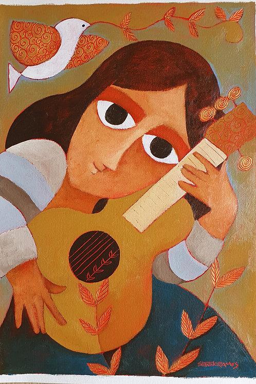 música para canto e cordas  42x30
